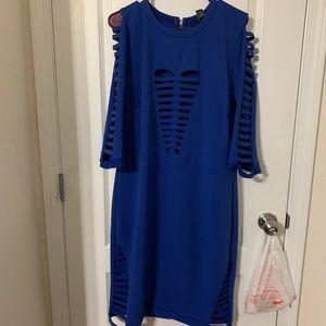 Royal Blue Cut Midi dress